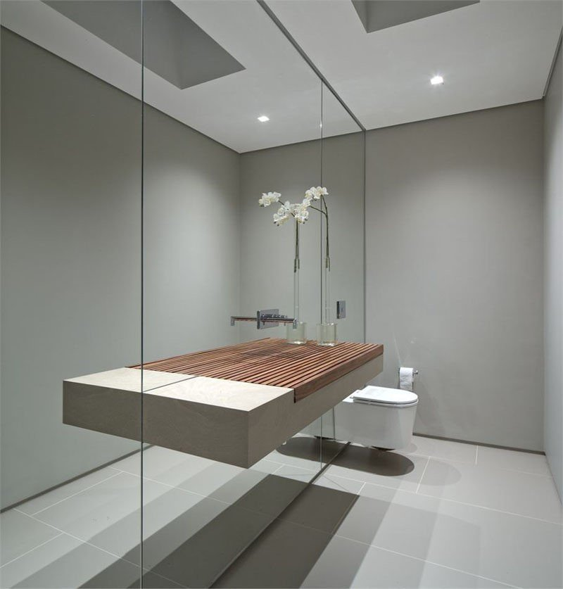 Large Mirror Small Bathroom